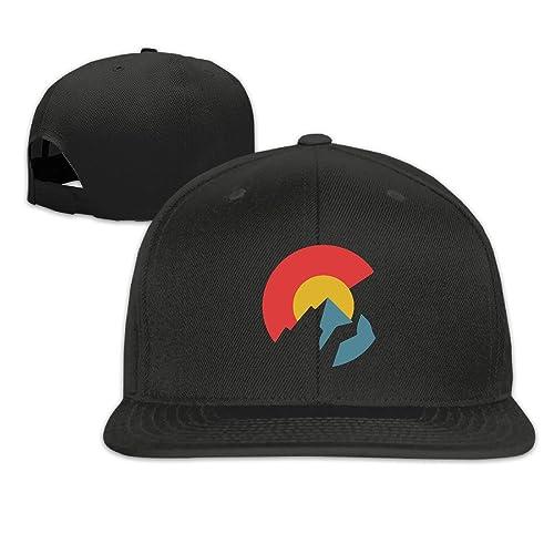Ahunbels Colorado Flag Solid Snapback Baseball Hat Cap One Size 55345963dcdd