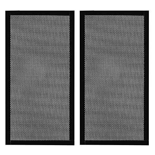 280 mm x 140 mm carcasa de ordenador ventilador filtro de polvo PC malla filtro parrilla cubierta con marco magnético, color negro (2 piezas)