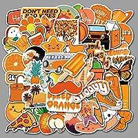 50個/セットオレンジ色のVscoガールズステッカーforDIY荷物電話ラップトップグラフィティステッカーVinly防水DIYデカール