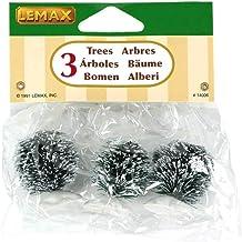 Lemax - Round Bristle Tree - Set Of 3 - Mini