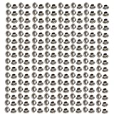 uxcell 500pcs 4mm Inner Dia 201 Stainless Steel Eyelet Grommets Kit w Washer for Leather Canvas Clothes Shoes