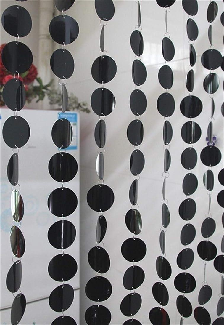 知性広まった祝福するPVCスパンコールカーテンインテリア装飾ドレープDIYフェスティバルパーティーウェディング用品 Welchemhom (Color : ブラック)