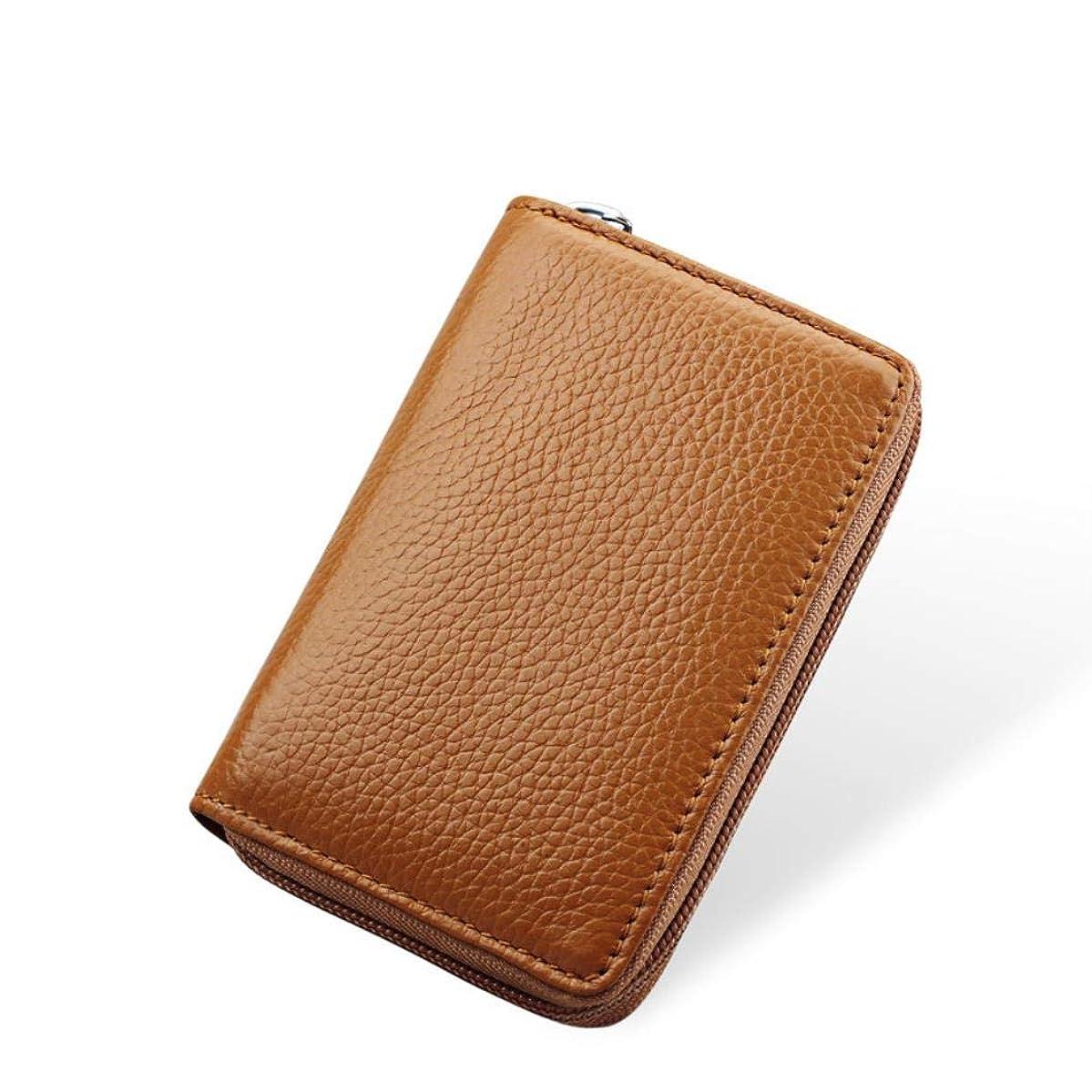 Business Men Card Pack Real Leather CardHolder Zipper Credit Card Holder By 26 Slots