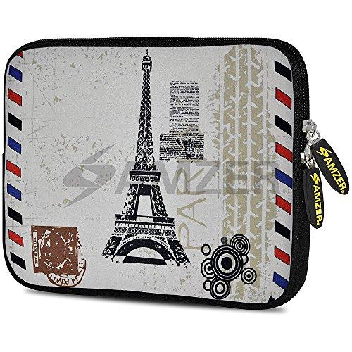 Amzer Alien Schedel Ontwerp Neopreen Zachte mouw 10.5 Inch Ansichtkaart Parijs