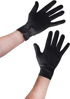 2 Paar Handschuhe,Strick-Handschuhe Baumwollhandschuhe schwarz