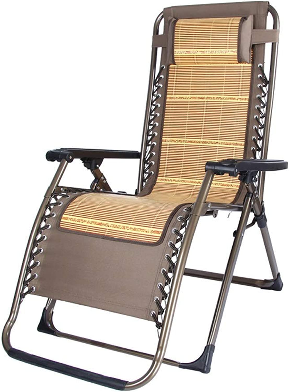 Folding Deck Chair Recliner Chair Balcony Bedroom Living Room Sleeping Chair Patio Garden Beach Sun Lounger Casual Outdoor Recliner