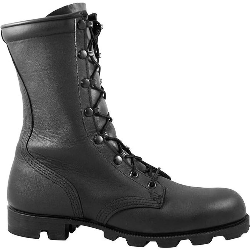 そのような配る結婚したMcraeブラックall-leather Combat Boot withパナマソール6189
