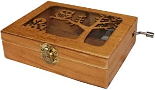 Engraved Wooden Music Box with an Owl Engraved On Top for Graduation/Birthdays