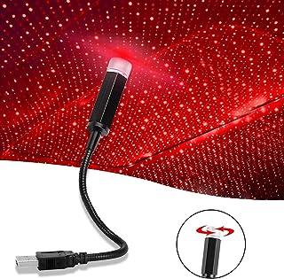 CIIHON Car USB Atmosphere Ambient Light Star Projector Night Light , Adjustable Romantic Car Interior LED Decorative Light...