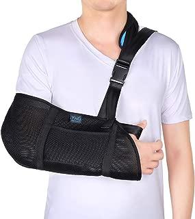 Arm Sling, Breathable Arm Support with Buckle Design, Shoulder Immobilizer for Broken Fractured Arm, Elbow and Shoulder, Adjustable Rotator Cuff Shoulder Sling for Left or Right Arm