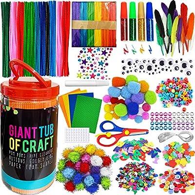 Amazon - 50% Off on Mega Kids Crafts and Art Supplies Jar Kit – 550+ Piece Set – Make Bracelets and Necklaces
