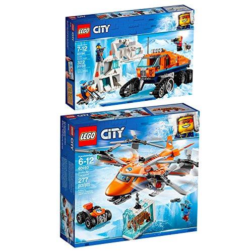Lego CITY 2er Set 60193 60194 Arktis-Frachtflugzeug + Arktis-Erkundungstruck