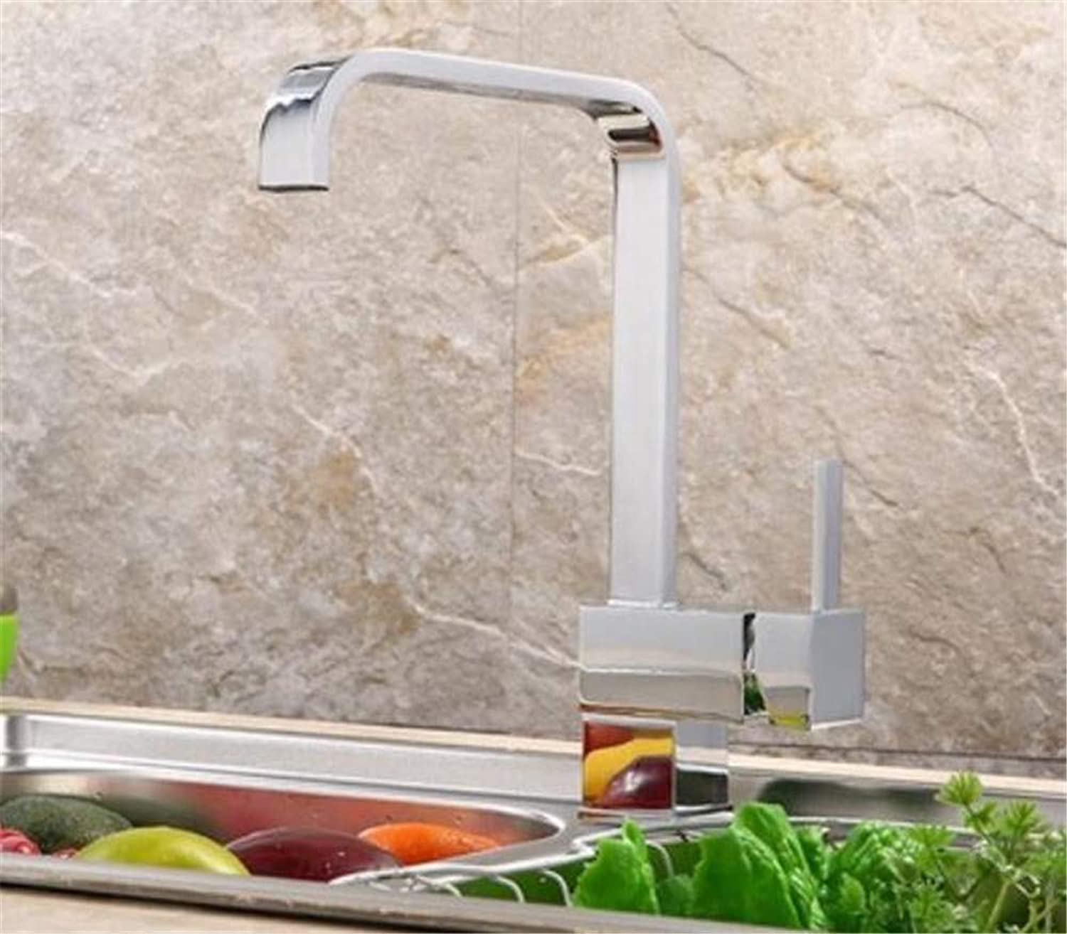 Oudan Kitchen Faucet Hot and Cold Vegetables Basin Stainless Steel Sink Faucet redation Washbasin Faucet (color   -, Size   -)