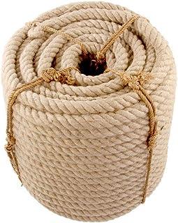 YIN YIN Equipo al aire libre Cuerda de cáñamo - 26mm / 30mm 5-10 m Cuerdas de yute Cordel de cáñamo natural País rústico A...