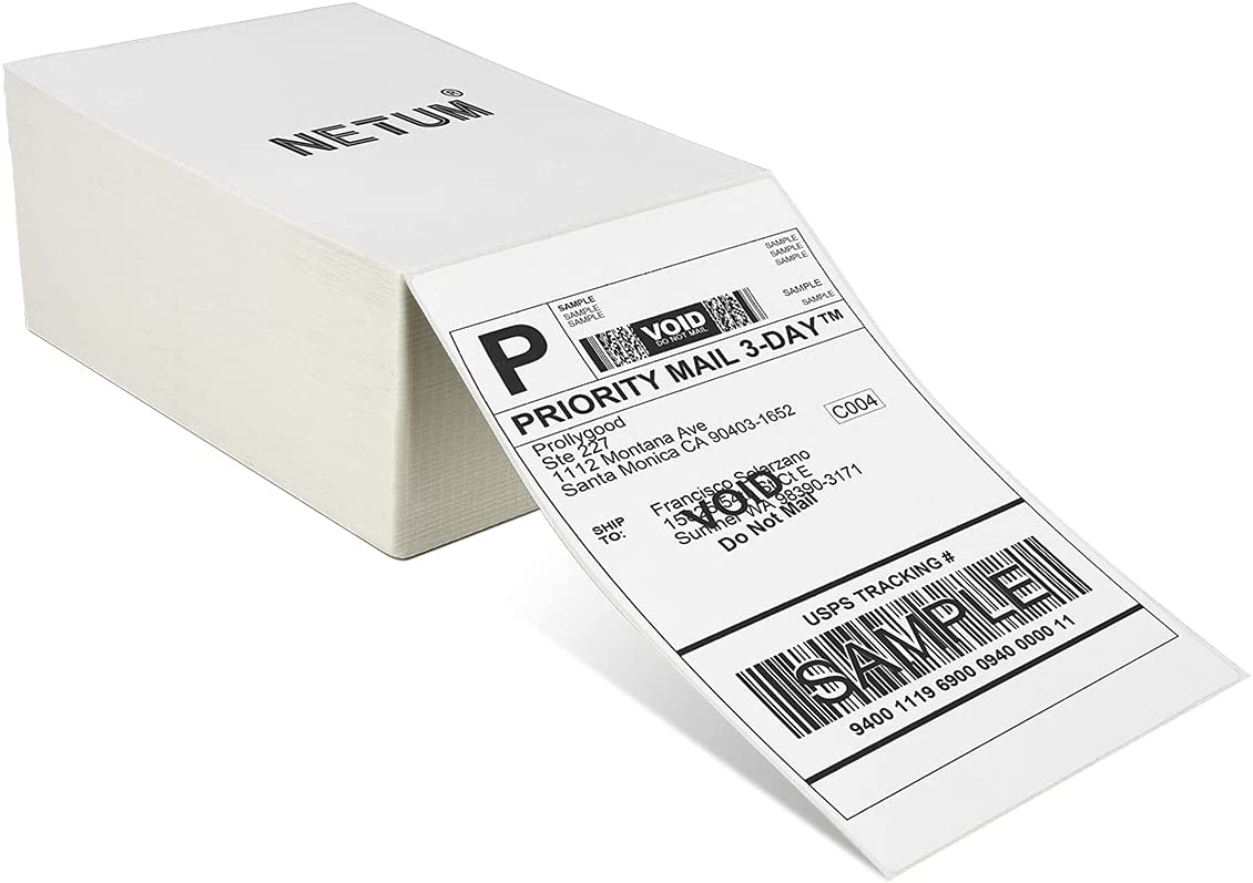 Many popular brands NETUM 4x6 Direct Max 86% OFF Thermal Shipping 500 Fan-fold Labels -