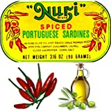 4-cans Nuri Portugese Sardines, Spicy, in Olive Oil 90g Ea (360g Total)