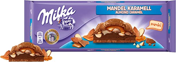 Milka Almond Caramel Chocolate Bar Candy Original German Chocolate 300g/10.58oz