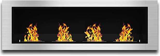 Elite Flame Luxe Recessed Ventless Bio Ethanol Wall Mounted Fireplace