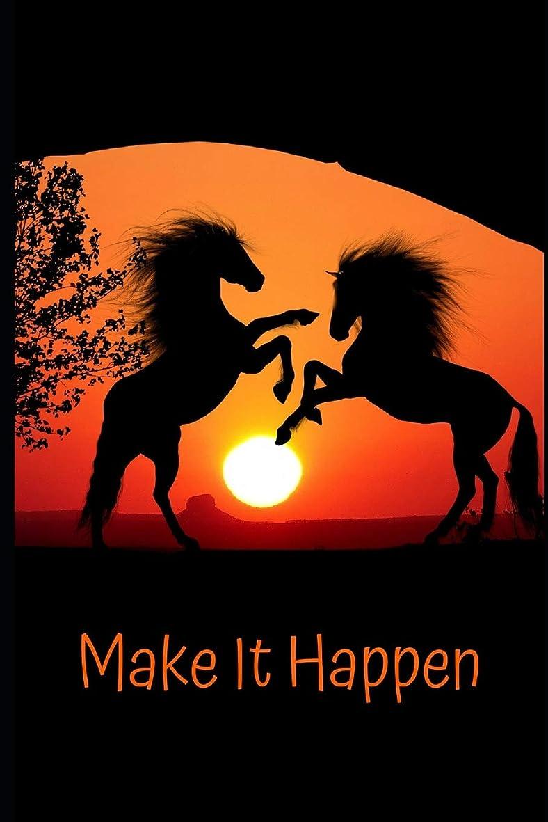 復活する敬意粒Make It Happen: Horse Notebook And Journal