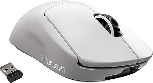 Logitech G PRO X SUPERLIGHT Mouse Gaming Wireless, Sensore HERO 25K, 25.600 DPI, Ultraleggero con 63g, Progettato pe...