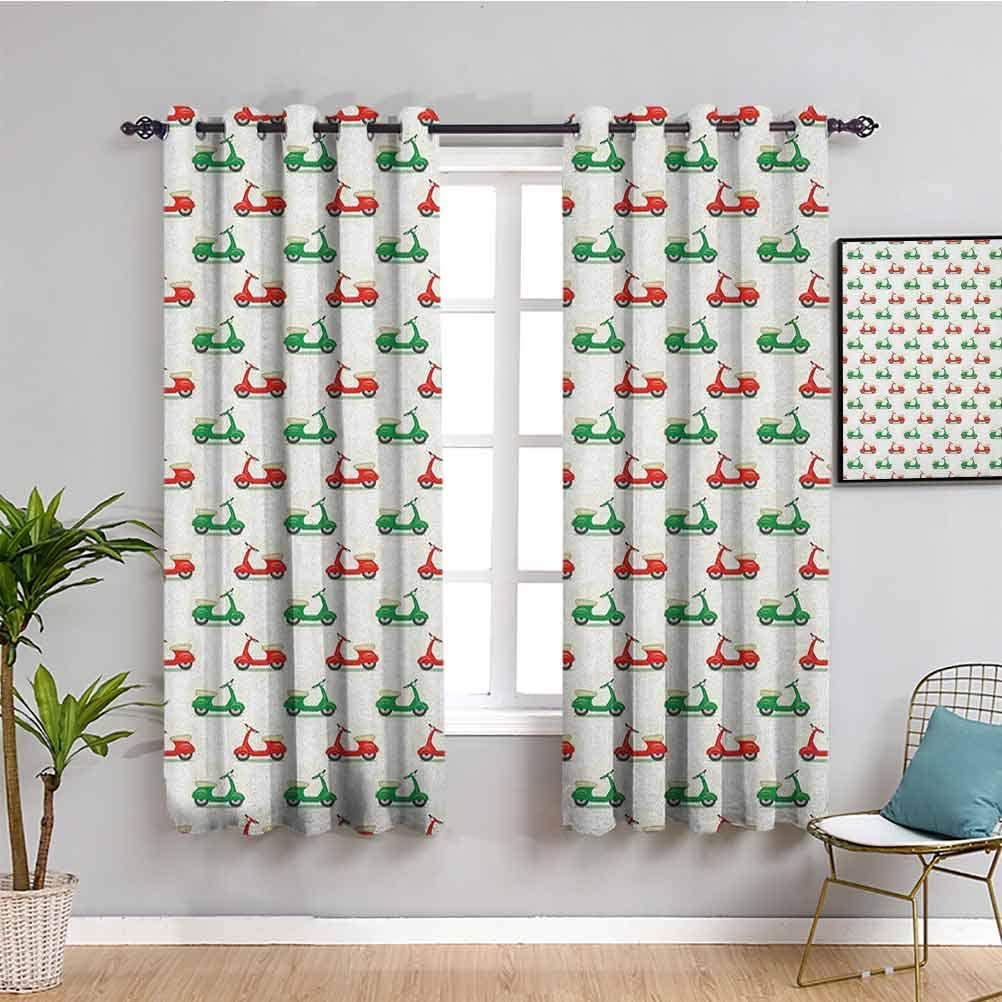 Motorcycle Outdoor Curtain Curtains 63 Scoo Vintage Clearance SALE Limited time Sale item Length inch
