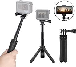 Taisioner Mini Selfie Stick Tripod Kit Two in One for GoPro Action Camera and Cell Phone Accessories