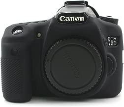 CEARI Silicone Protective Housing Camera Case Body Frame Shell Cover for Canon EOS 70D Digital Camera - Black