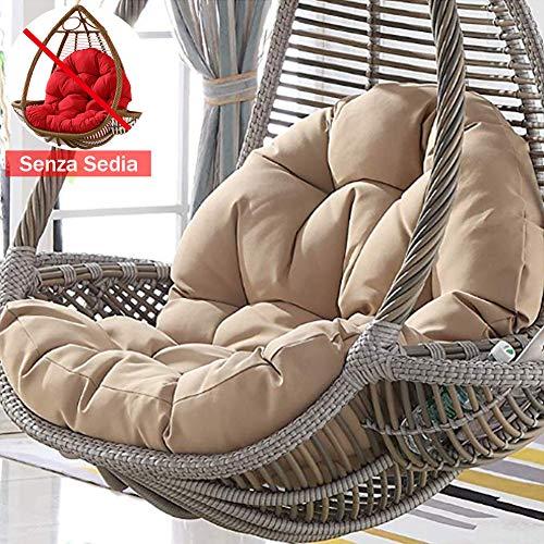 lovehouse Vimini Rattan Cestello Appeso Cuscino del Sedile Senza Supporto,Morbido Sedia Indietro Uovo Appeso Amaca Cuscino per Sedia Swing Cuscino per Sedia D 47×34inch