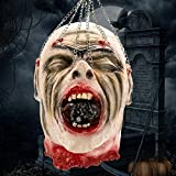 <span class='highlight'><span class='highlight'>FlowersSea</span></span> Halloween Hanging Head Props Horror Severed Dead Heads Latex Gruesome Zombie Decapitated Head Bloody Scary Halloween Decoration (3#)