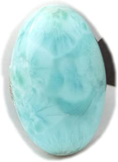 The Best Jewellery Larimar Cabochon 29Ct Natural Larimar Gemstone, Oval Shape Cabochon For Jewelry Making (26x17x7mm) SKU-...