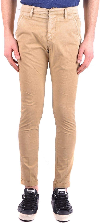 DONDUP Men's MCBI32424 Beige Cotton Pants