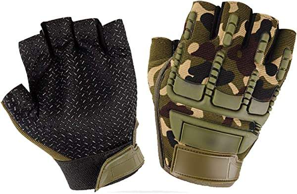 CapsA Cycling Gloves Men S Women S Mountain Bike Gloves Half Finger Biking Gloves Breathable Motor Sports Motorbike Riding Military Tactical Gloves Motorcycle Outdoor