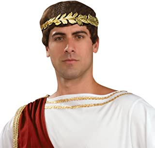 Forum Novelties, Roman Laurel Wreath Gold Leaf Headband Men's Costume Accessory