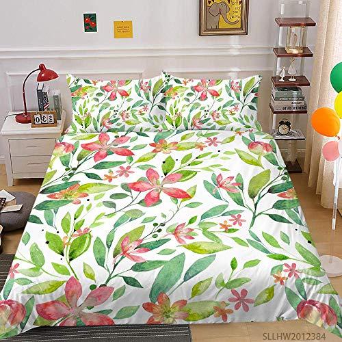 ETDWA Bettwasche-Set, Luxus 3D Bettwäsche Set Queen Size Tröster Soft Breathable Modern Home Bett König Kissenbezug-160cmx200cm