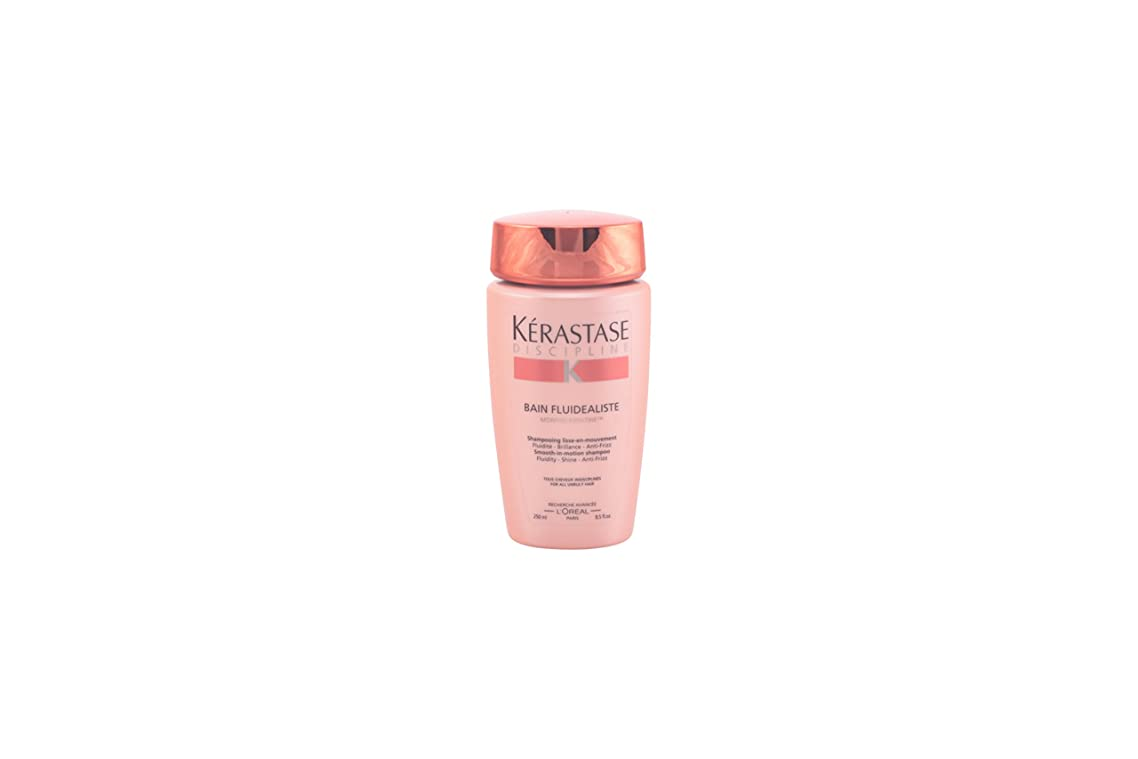 Kerastase Discipline Bain Fluidealiste Smooth-in-Motion Shampoo for Unisex, 8.5 Ounce (Packaging May Vary)