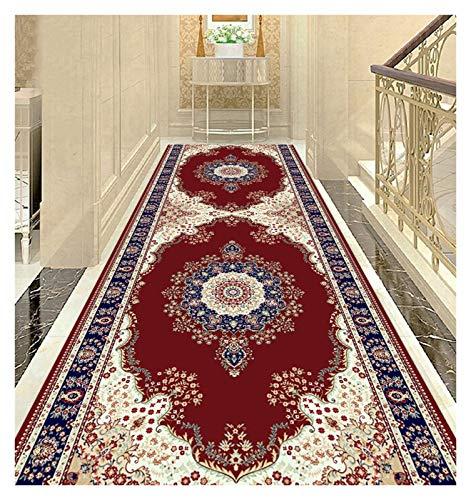 ditan XIAWU Schlafzimmer Teppich Kann Geschnitten Werden Zuhause Wohnzimmer rutschfest Eingang (Color : Red, Size : 100x640cm)