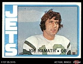 1972 Topps # 100 Joe Namath New York Jets (Football Card) Dean's Cards 5 - EX Jets