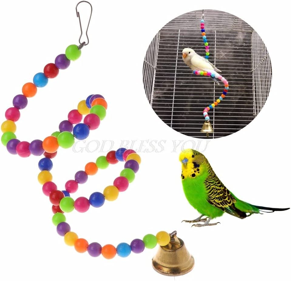 25% OFF Jesechesy Luxury goods - Pendant Cage Multicolor S Toys Parrot Beads Spiral