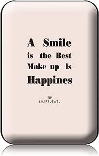 [SMART JEWEL] 【Smile】 モバイルバッテリー 軽量 小型 薄型 かわいい おしゃれ コンパクト 5000mAh 女子用 急速充電 2台同時充電 PSE認証取得済み iPhone ipad対応 iQos対応 SSC5-MG4-BK_zq