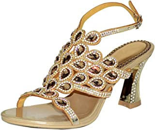 8c9fdcfdcbf0c LLBubble High Heels Rhinestone Sandals for Wedding Bridal Open Toe Buckle  Strap Leather Prom Evening Party