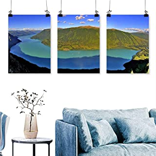 SCOCICI1588 3 Panels Triptych The Natural Scenery of Xinjiang North Xinjiang for Home Modern Decoration No Frame 24 INCH X 35 INCH X 3PCS