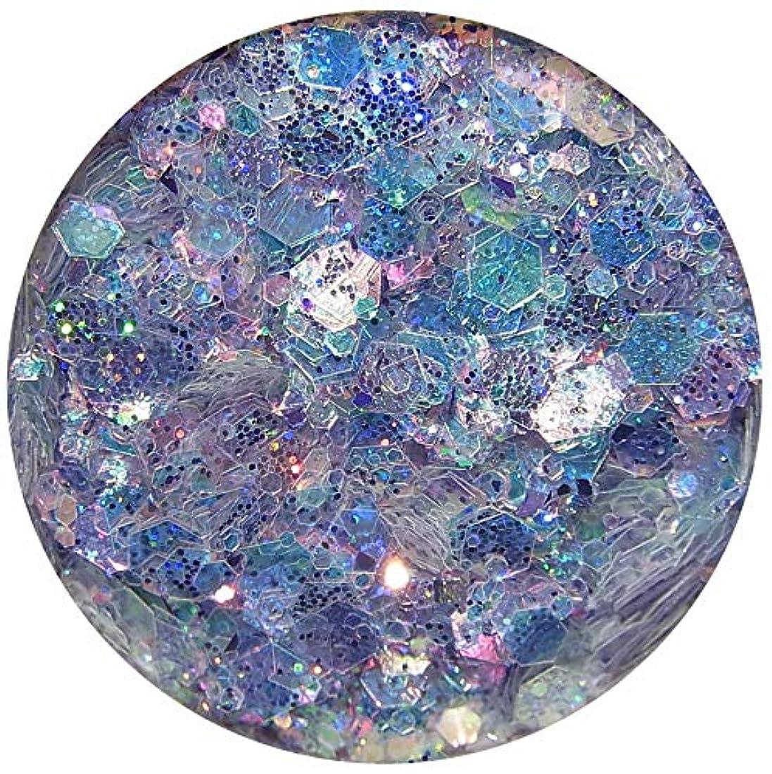 修羅場寄生虫サンプルホログラム 六角ラメミックス 8色から選択可能 グリッターネイルパーツ オーロラーカラー (3)