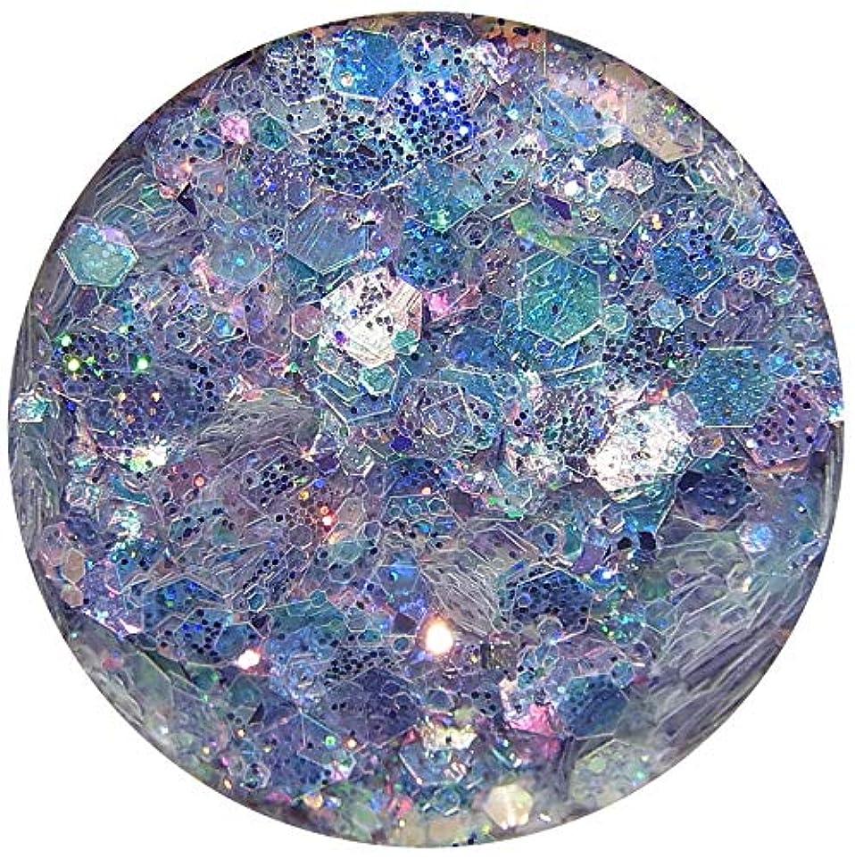 祈る対抗リールホログラム 六角ラメミックス 8色から選択可能 グリッターネイルパーツ オーロラーカラー (3)