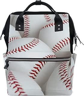 My Little Nest Large Capacity Baby Diaper Bag Baseballs Durable Multi Function Travel Backpack for Mom Girls