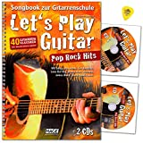 Let's Play Guitar Pop Rock Hits - Libro de canciones para guitarra (40 músicos clásicos sin conocimientos, con 2 CD)