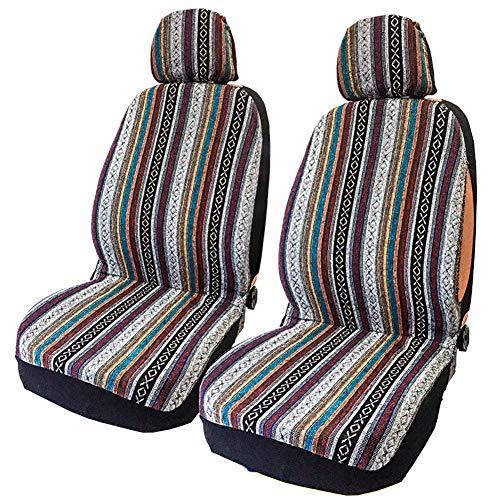 Juego de 4 fundas protectoras para asientos delanteros de coche, universales, fundas para asiento delantero, fundas de asiento de coche, fundas de asiento de coche, fundas de asiento de coche