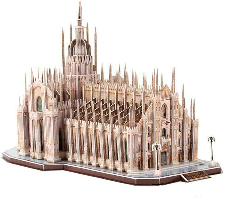 DONGLIAN DIY Modell DIY Modell Set  Italien Mailand Kathedrale Simulation Gebude 3D Dreidimensionales Puzzle Papier Plastik Dekoration Erwachsene Kinder Souvenir