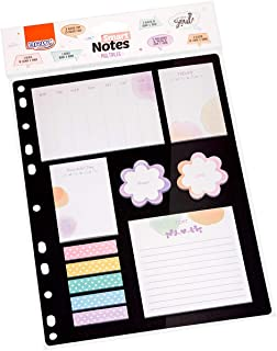 Kit com Blocos Autoadesivos, Brw, BA0700, Smart Notes, Multiples Floral e Poá, 11 Blocos