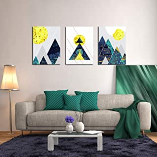 DZL Art A73334 Nordic Abstract Contrast Line Geometric Mountain Canvas Prints Wall Art Paintings Wall Artworks Pictures for Living Room Bedroom Decoration, 16x12 inch