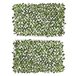 professional Verseo Faux Ivy Greenery Yard Decoration, Ivy Hedge Privacy Screen Expand (2 Pack)